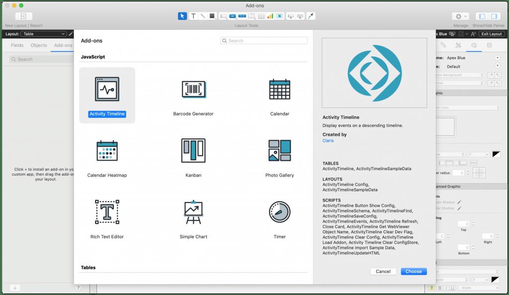 Claris developer program filemaker screenshot